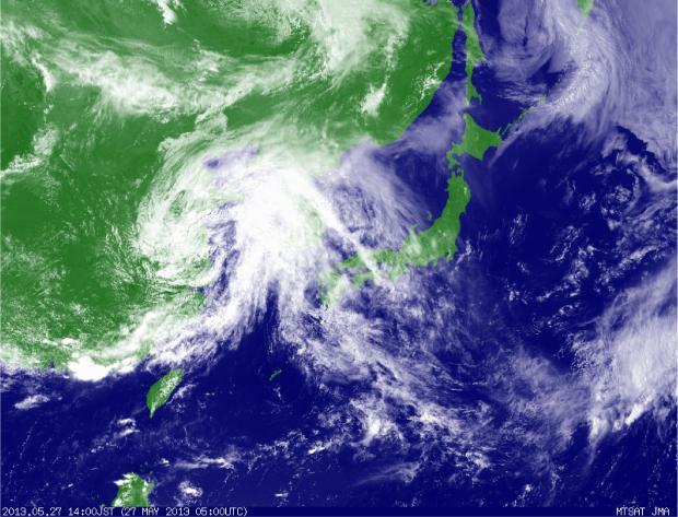 2013年5月27日14時 衛星可視画像