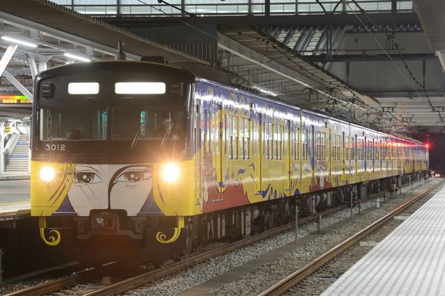 20141219-3000系3011F-銀河鉄道999ラッピング電車-回送