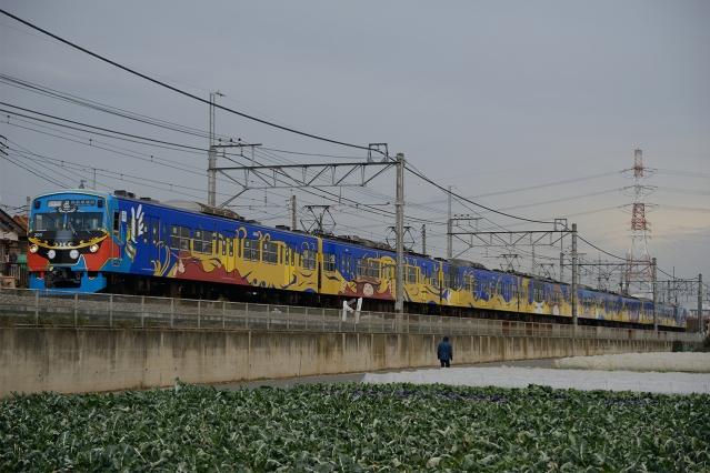 20141220-3000系3011F-銀河鉄道999ラッピング電車-さよならイベント2