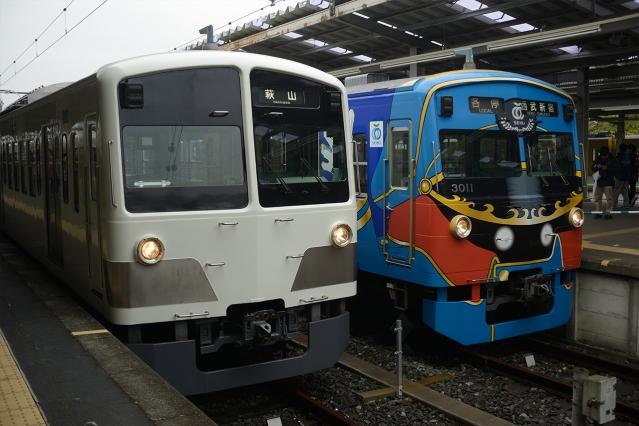 20141220-3000系3011F-銀河鉄道999ラッピング電車-さよならイベント3