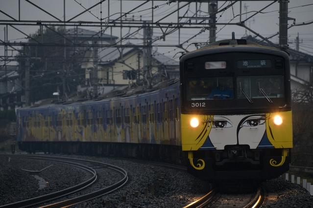 20141220-3000系3011F-銀河鉄道999ラッピング電車-さよならイベント5