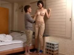 177cmGカップ青山沙希の小男との身長差SEXがエロい!