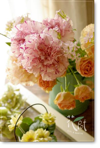 ◆京から届く「花物語」◆日常花がもっと楽しくなる 自分らしい「花のある暮らし」 京都の花屋 花pot(ポット)-母の日イメージ画像