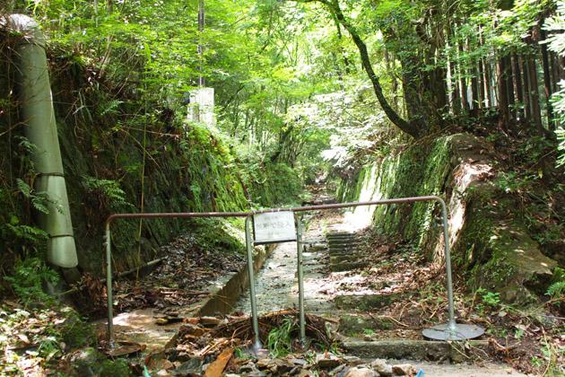 愛宕登山ケーブル跡は立ち入り禁止