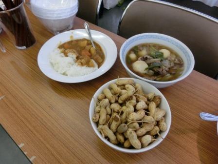 カレー、芋煮、落花生