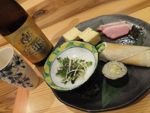 ビールと前菜♪