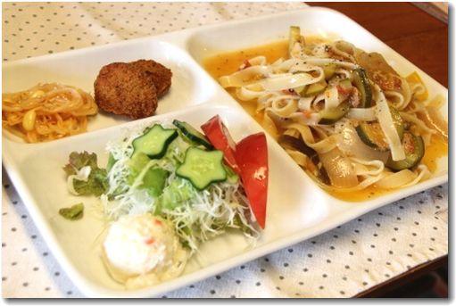 夏野菜の冷製ラタトゥユパスタ♪