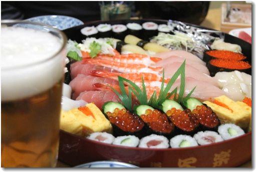 お寿司でお祝い♪