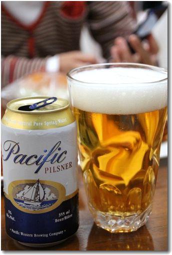 ビールで♪