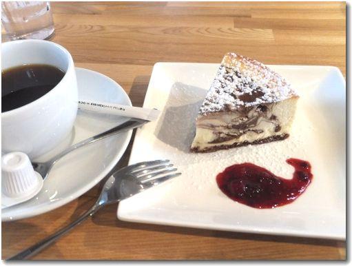 コーヒーとニューヨークチーズケーキ♪