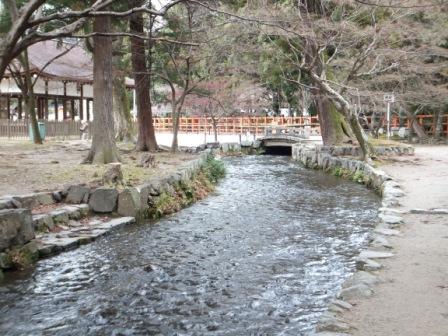 上賀茂神社ならの小川_H24.01.07撮影