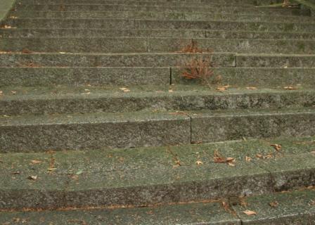 豊国廟の石段(下部)_H24.12.08撮影