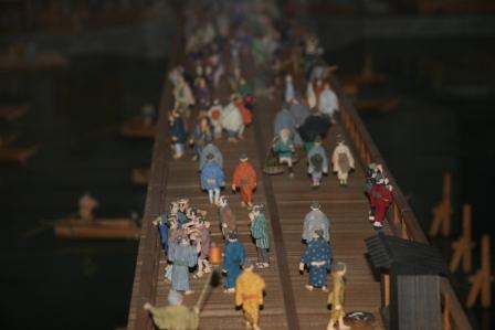 江戸東京博物館両国橋西詰の模型_H25.01.13撮影