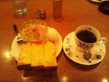 CAFE NAKAYAMAのモーニング H25.03.16撮影
