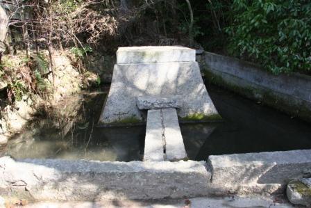三角寺の池_H25.03.16撮影