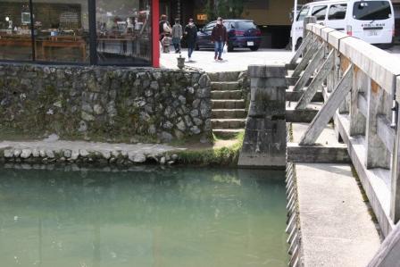 渡月小橋の石段 H24.11.10撮影