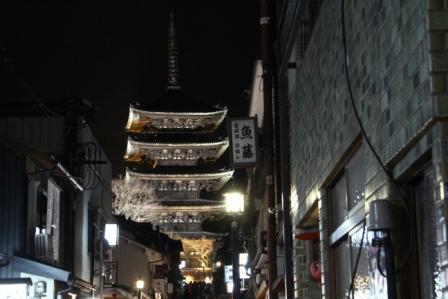 八坂の塔ライトアップ_H25.03.26撮影