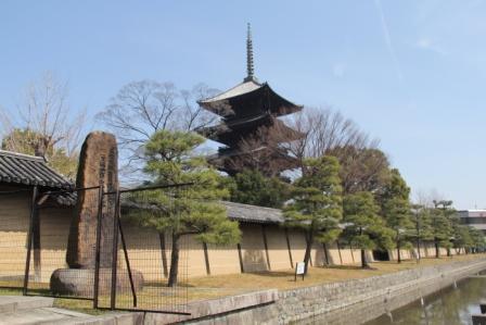 東寺五重塔・外から_H25.03.17撮影