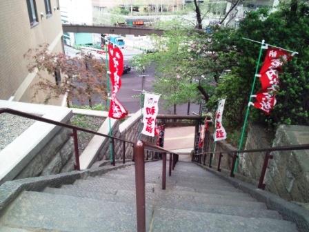 上目黒氷川神社の石段見下ろし