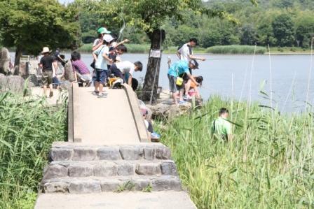 広沢池のザリガニ釣り_H25.06.16撮影