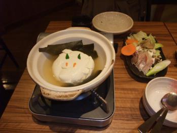 雪うさぎな湯豆腐v