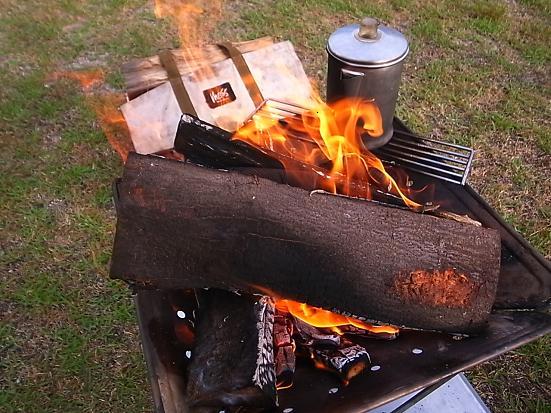 ささゆり焚き火