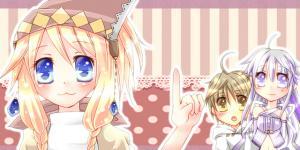 Twitter用ヘッダ頭巾とニーナと白魔っ子。