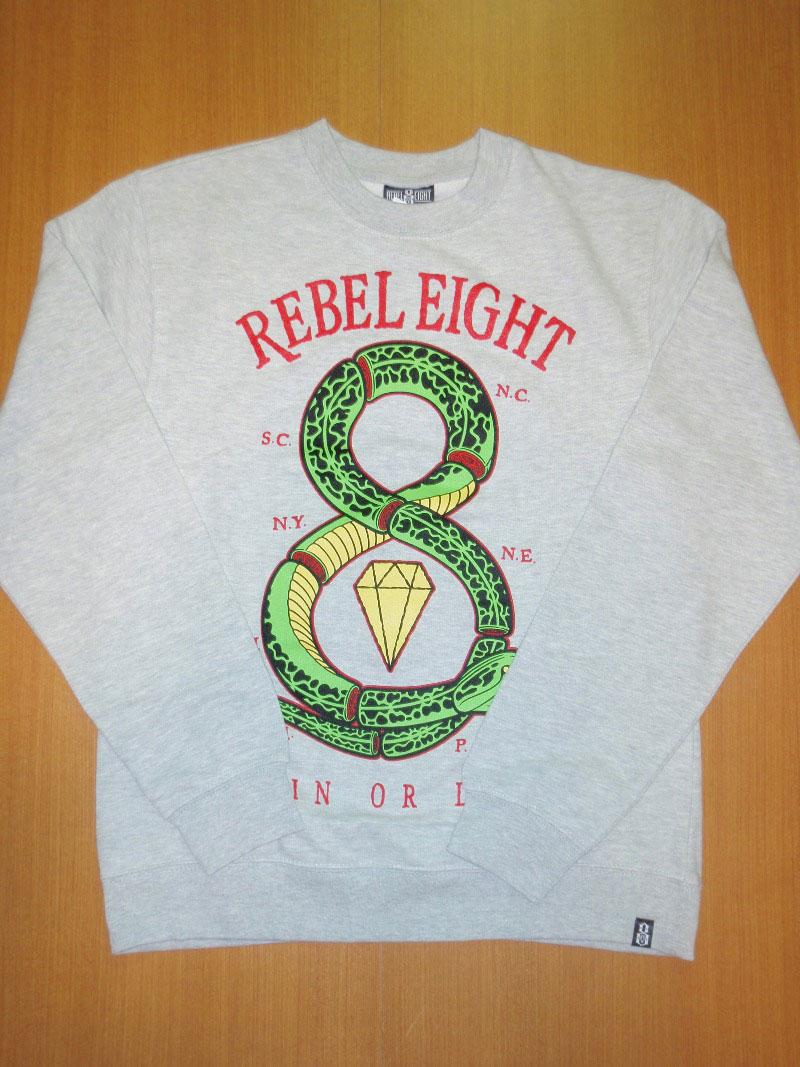 2014 Holiday REBEL8 CrewNeck STREETWISE クルーネック ストリートワイズ 神奈川 藤沢 湘南 スケート ファッション ストリートファッション ストリートブランド
