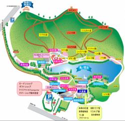 フラワーセンター園内地図