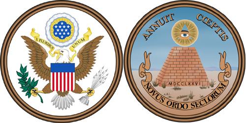 アメリカ合衆国の国章/国璽(国章/国璽の表面・裏面)