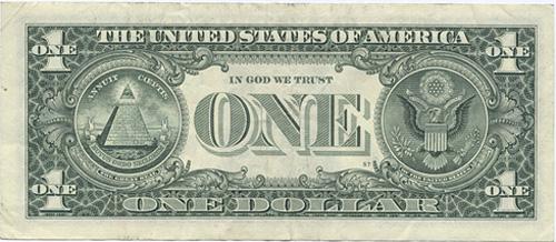 アメリカ合衆国1ドル紙幣(裏面)