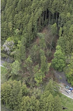 静岡の地滑り