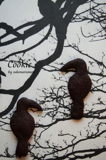 自作クッキー型販売(南国鳥とカラス)