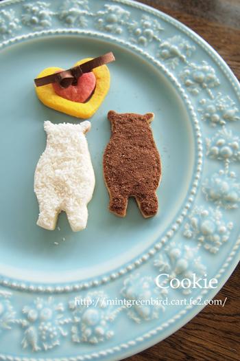 もこもこ型抜きクッキー