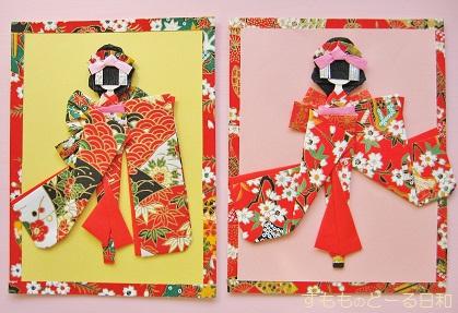 千代紙カードa