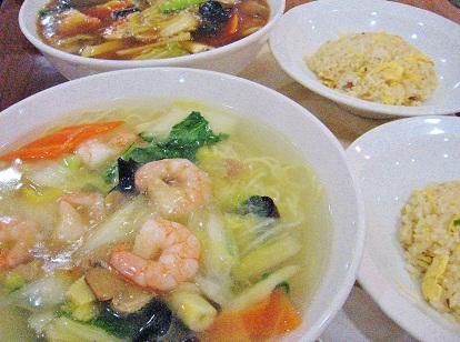 海老タンメンと広東麺