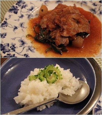 お肉のメイン&リゾット