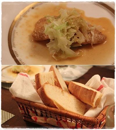 お魚のメイン&パン