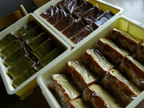 バニラ&抹茶&チョコシフォンケーキ