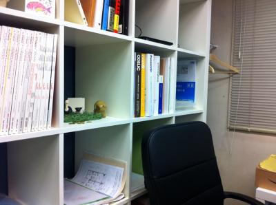 本棚の一角