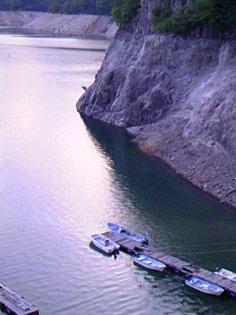 船着き場の水位