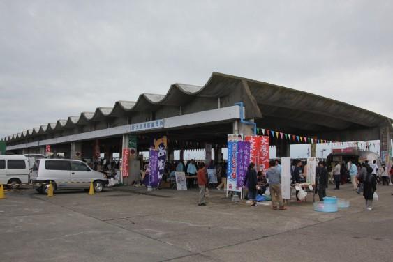会場の魚市場