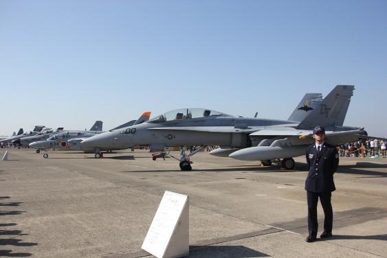 航空機の展示
