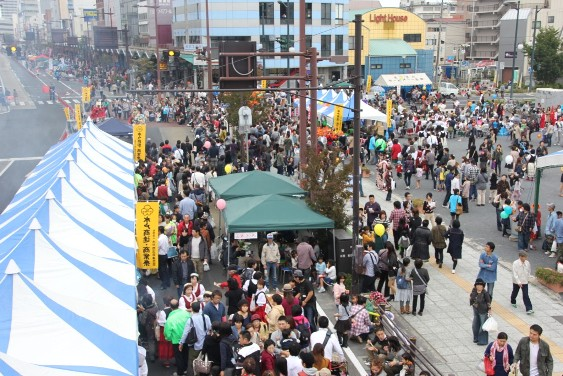 賑わう水戸フェス
