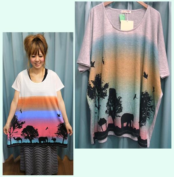 Shanti2(シルエット)ロングTシャツ
