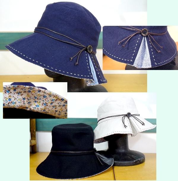 ハンドステッチ綿麻 帽子 ¥1995