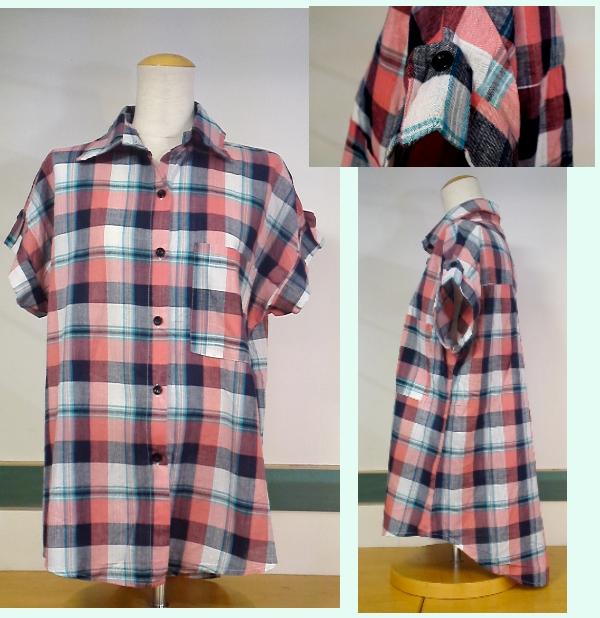 チェックシャツ ¥2100