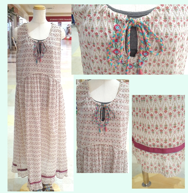 shanti2 ウォールペーパー ロングドレス ¥5145