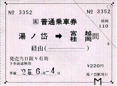 ⑧湯ノ岱切符