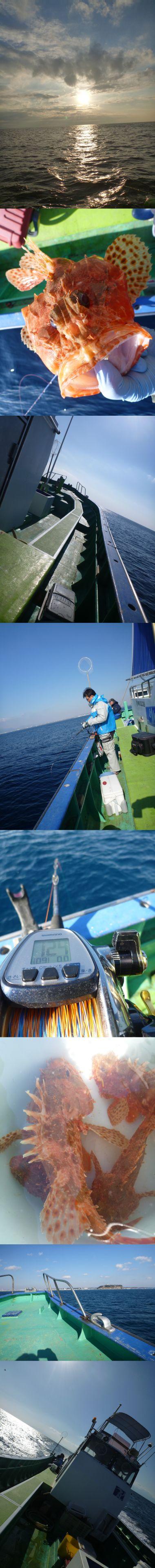 まなぶ丸でオニカサゴ釣り